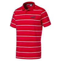 PUMA Men's ESS+ Striped J Polo