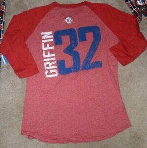 NEW NBA Blake Griffin LA Los Angeles Clippers 3/4 Sleeve T Shirt Men M Medium NE