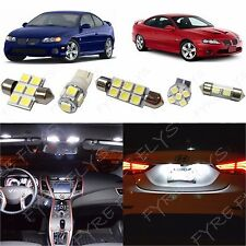 12x White LED lights interior package kit for 2004-2006 Pontiac GTO PG1W
