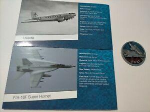 2021 Royal Australian Air Force 100 years centenary RAAF Token medal + 2 Posters