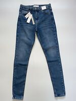 Topshop Jamie High Waisted Skinny Blue Denim Jeans 4 6 8 10 12 14 16 18 All L34