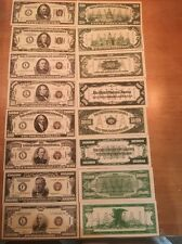 Reproduction  Paper Money 1934 9PC WWII Hawaii Set US Fantasy Currency Copy Note