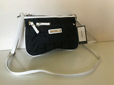 NEW! NINE WEST FAST MOVER CROSSBODY SLING BAG BLACK SNOW PETAL WHITE $49 SALE