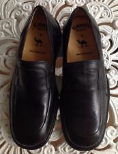 RARE CAMEL BOOTS BLACK LEATHER SLIP ON LOAFERS UK 6 /EU 40/US 6.5