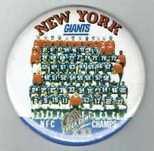 NEW YORK GIANTS ~ 1987 Super Bowl Team Photo Pin