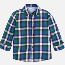 New Boys Mayoral Long Sleeved Checked Shirt , Age 2 Years, (4148)