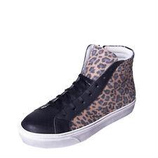 CHANGE High Top Sneakers EU 38 UK 5 US 8 Worn Look Cheetah Pattern Made in Italy