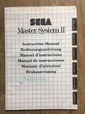 Sega Master System 2 Instruction Manual