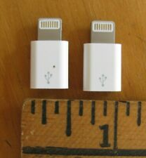 Lot of 2: Micro USB to 8-pin Lightning Adapter Connector for iPhone 5 6 7 8 X
