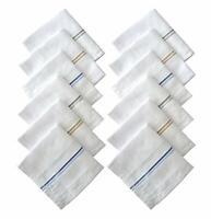 Cotton Premium Collection Handkerchiefs Hanky For Men White Choose Your Option