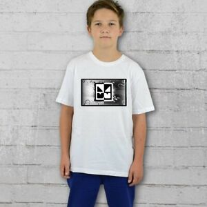 Geometry Dash BLACK WHITE T-shirt Girls Boys Tee - Personalised Free age 5-15