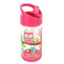 Stephen Joseph Flip Top Water Bottle with Leak Proof Spout for Kids - Owl Bottle