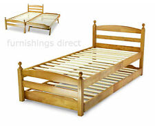 Solid Wood Coil Spring Medium Beds with Mattresses