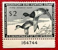 1954 US Federal Duck Stamps SC#RW21 Well Centered with Plate# CV:$85