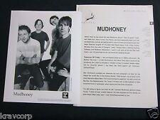 MUDHONEY 'TOMORROW HIT TODAY' 1998 PRESS KIT--PHOTO