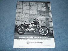 """1989 Harley-Davidson 883 Sportster Vintage Ad """"Have You Got What it Takes..."""""""