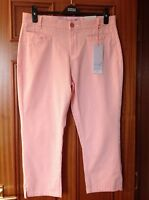 MARKS AND SPENCER PER UNA ORANGE COTTON STRETCH CROP TROUSERS SIZE 8 BRAND NEW