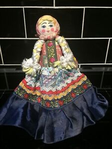Vintage Fabric Doll Folk Art Craft Unusual Gift Collectable