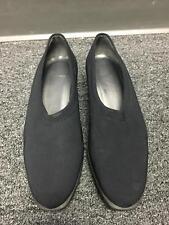 STUART WEITZMAN Women's Black Satin Pointed Toe Slip On Wedge Heels Sz 8.5 B3887