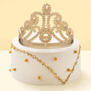 Large Crown Silicone Mould Royal Baby Prince Princess Icing Cake Decorating #5
