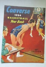 """CONVERSE 1954 Basketball Yearbook 33rd Edition 11"""" x 9,"""" 53 pages Excellent!!"""