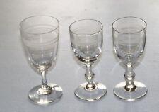 3 mundgeblasene norddeutsche Gläser antik Klarglas Süßwein Schnaps Sherrygäser