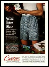 1961 Carters Knit Underwear Man Receives Gift In His Boxer Shorts Print Ad