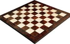 "Walnut Burl & Maple Superior Traditional Chess Board - 2.5"" Squares - Gloss Fini"