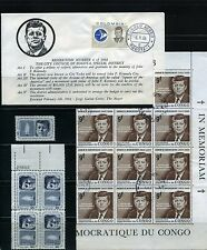 JOHN F. KENNEDY OF COLOMBIA ''SHOW'' F.D.C. BKLT OF 4 pair - MNH- USED 1964