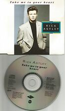 RICK ASTELY Take me to your Heart w/ MIXES & INSTRUMENTAL & UNRELEASED CD single