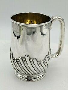 Elegant Victorian Silver Mug, Stokes & Ireland Birmingham 1892, Weight 142 Grams