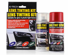 E-Tech Vehicle Headlight Tail Side Light Lens Tinting Kit Spray & Remover- RED