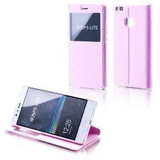 FUNDA LIBRO TAPA CON VENTANA ROSA para Huawei Y6/Honor 4a Funda Bolso