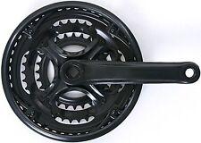 Kettenradgarnitur Import Stahl 28/38/48 Zähne 4-kant 170 mm Kurbellänge schwarz