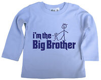 """Dirty Fingers Baby Long Sleeve Top T-Shirt Tee """"I'm the Big Brother"""" Gift"""