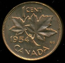 1954 Canada Queen Elizabeth II, Small Cent, Red