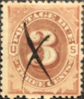 Scott #J3 US 1879 3 Cents Postage Due Stamp VF LH