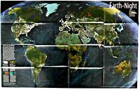 ⫸ 2004-11 Earth at Night – National Geographic Map Poster School, The World Map