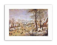 PAESAGGIO Brueghel WINTER BIRD Trappola PITTURA STAMPE SU TELA ART
