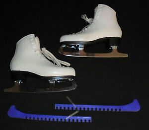 Risport 1458 Ice Skates UK size 7.5 Sheffield Steel Blades MK with Blade Covers