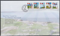 CANADA #2249-2253 PERMANENT FLAG OVER LIGHTHOUSES FIRST DAY COVER