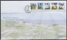 CANADA #2249-2253 PERMANENT FLAG OVER LIGHTHOUSES FIRST DAY COVER - A