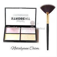 Technic Strobe Kit Powder & Cream Highlighter  +LARGE Makeup Brush FREE POST