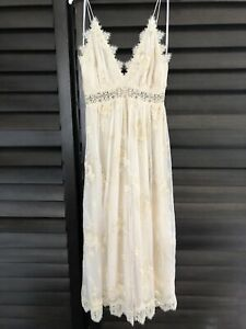 Zimmermann Tropicale Crinkle Ivory Jumpsuit Size 0 / Size 8