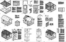 14' x 10' Cabin Loft Backyard Shed with Porch Plans #P61410, Free Material List