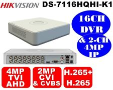 Hikvision H.265+ 16CH DVR 4MP TVI & AHD/2MP CVI/CVBS & 2CH 4MP IP DS-7116HQHI-K1