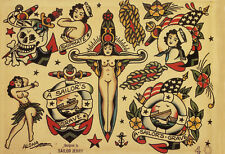 Sailor Jerry Tattoo Art Flash #18   13 x 19 Photo Print
