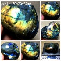 Natural Polished Labradorite Crystal Gem Stone Specimen Madagascar