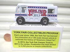 Matchbox 2013 York Fair PA 1/80 Diecast Limited Edition Motor Home 2,500 Made