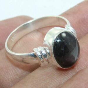 Genuine Ruby Star Sterling Solid Silver Stackable Ring - ANY SIZE